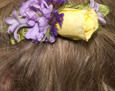 Consider adding a hair piece to match your bouquet.